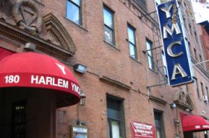 Harlem YMCA - Front awning - Neon Y Lettering